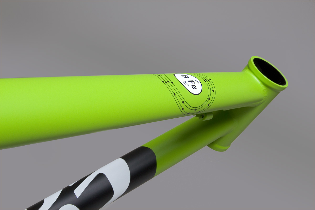 BFe Matte Green Top Tube